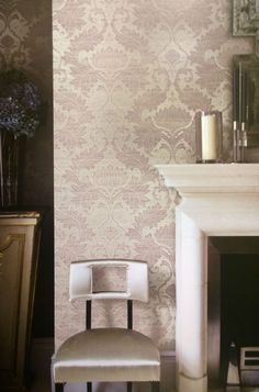 A traditional thistle #damask on a beige linen background. Order today at http://lelandswallpaper.com/store/Featured%20Sections/Damask/Item:Show:Traditional%20Thistle%20Damask%20Wallpaper%2001CONN