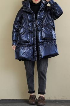 Loose-Fitting Stitching Double-Sided Down Coat Winter Colors, Down Coat, Coats For Women, Your Style, Windbreaker, Winter Jackets, Stitch, Stylish, Casual