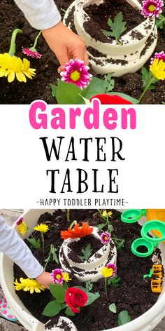 Garden Water Table Sensory Activity for Kids - HAPPY TODDLER PLAYTIME Play Based Learning, Fun Learning, Learning Activities, Table Activities For Toddlers, Sensory Activities, Best Water Table, Curious Kids, Abcs, Toddler Preschool