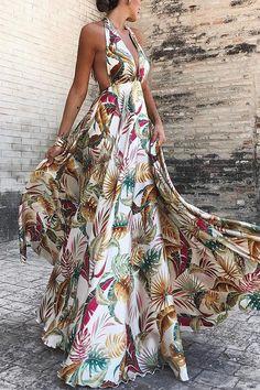 Sexy Deep V Collar Floral Printed Blinding Maxi Dress – urstylish Elegant Dresses, Sexy Dresses, Summer Dresses, Pretty Dresses, Beautiful Dresses, Summer Maxi, Floral Dresses, Floral Maxi, Spring Summer
