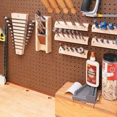 Custom Pegboard Tool Holders - Woodsmith Tips:
