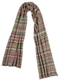 Multicolour Fine Stripe Shawl