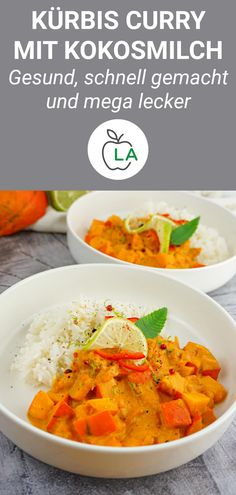 Kürbis Curry mit Kokosmilch – Veganes Fitness Rezept This pumpkin curry is a healthy, low-calorie, vegan, weight-loss dish. Here you will find the recipe that … Low Calorie Recipes, Healthy Recipes, Pumpkin Curry, Coconut Milk Curry, Healthy Diet Plans, Eating Habits, Chipotle, Tofu, Great Recipes