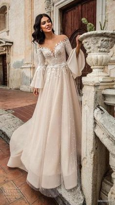 "5998202dda WEDDING IDEAS  amp  INSPIRATIONS (via Innocentia 2019 Wedding Dresses —  ""Taormina"" Bridal"