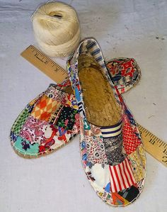 If the Shoe Fits...Make your own Patchwork Shoes! | A Piece of Cloth Vintage Fabric Merchants                                                                                                                                                     More