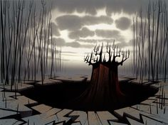 """"""" Animation Backgrounds painted by Scott Wills - Samurai Jack Acrylic - Cartoon Network """" Cartoon Background, Animation Background, Art Background, Background Designs, Environment Concept Art, Environment Design, Cartoon Network, Samurai Jack Background, The Wicked The Divine"""