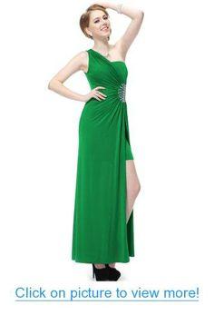 Ever Pretty Split Rhinestones One Shoulder NWT Long Prom Gown 09542
