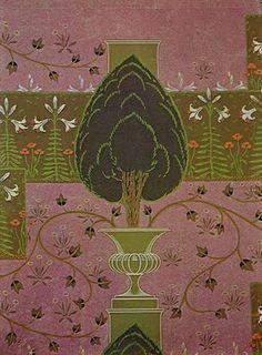 Walter Crane wallpaper -The  Formal Garden, 1904
