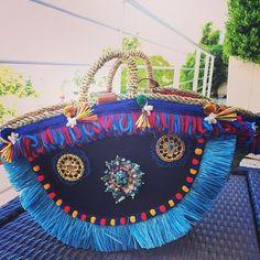dolce gabbana-alta moda capri-blue embellished basket handbag-handbag.com