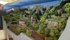 Hobby Trains, Train Table, Lego Trains, Model Train Layouts, Farm Gardens, Classic Toys, Model Trains, Scale Models, Miniatures