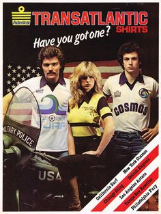 Transatlantic shirts - Have you got one? #Admiral #Shoot! 1979-04-21
