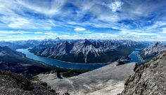 Spray Lakes as seen from 10240 feet Canmore Alberta [OC] [4095x2377]