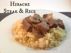Hibachi Steak Recipe with Hibachi Rice! Super easy dinner idea.