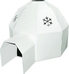 Cardboard Igloo hours of fun for kids of all ages! http://www.cardboardhouse.co.uk/collections/cardboard-igloos