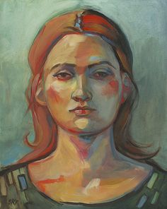 Jeanette - Original Oil Painting on Panel- Susy Keely