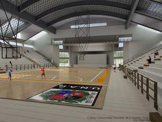 Imágen polideportivo Universidad Nacional