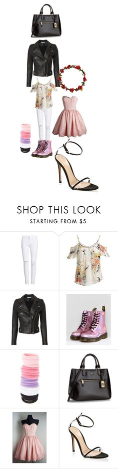 """""""Untitled #9676"""" by lover5sos ❤ liked on Polyvore featuring Hudson Jeans, Joie, IRO, Dr. Martens, claire's and Gianvito Rossi"""