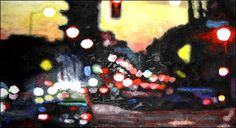 Carole Benzaken, Jean-Marc Bustamante |  By Night V, 2003. Acrylique sur toile. 170 x 312 cm.