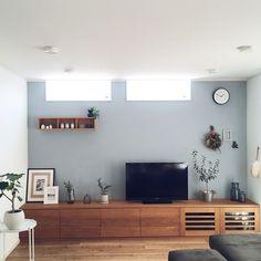 Lounge/IKEA/テレビボード/ウンベラータ/ACTAS/ブルーグレーの壁...などのインテリア実例 - 2018-03-11 06:32:41 | RoomClip (ルームクリップ)