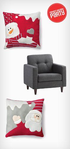Festive décor pillow always put guests in the holiday spirit! Canada Shopping, Festival Decorations, Online Furniture, Decorative Pillows, Mattress, Festive, Wonderland, Appliances, Cushions