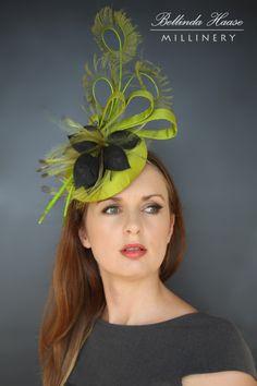 Silk Cocktail Hat by BELLINDA HAASE #HatAcademy #Millinery