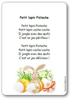 Comptine Petit lapin Pistache