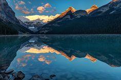 Sunrise at Lake Louise, Banff National Park, Alberta, Canada by Pierre Leclerc Photography Landscape Photos, Landscape Art, Landscape Paintings, Landscapes, Banff National Park, National Parks, Lake Louise Banff, Mountain Paintings, John Muir