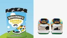 Nike Images, Future Of Marketing, Ice Cream Tubs, Skate Store, Nike Sb Dunks, Ben And Jerrys Ice Cream, Green Leather, Pop Culture, Nike Shoes