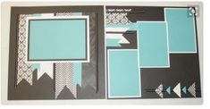 4 photo 2 page layout scrapbook 8x8 Scrapbook Layouts, Paper Bag Scrapbook, Scrapbook Templates, Scrapbook Designs, Scrapbook Sketches, Scrapbook Supplies, Scrapbook Cards, Simple Scrapbooking Layouts, Card Sketches