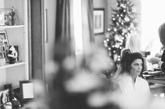 Bride prepares for wedding at the Westmount Country Club. Captured by Northern NJ wedding photographer Ben Lau.