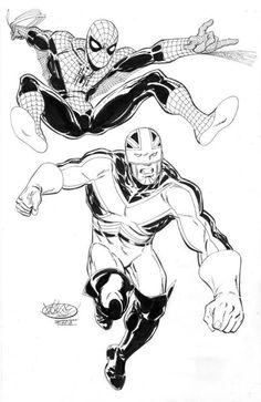 Spider-Man & Captain Britain by John Byrne