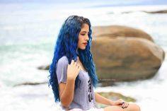 Progressiva Caseira - Muriel Cosméticos    #bluehair #sea #beach #hair #blue #girl #cabelo #haircolor