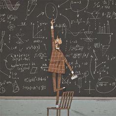 Joe Todd Stanton blackboard teacher illustration
