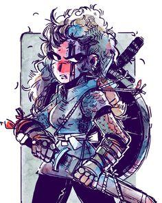 Viki #viking #characterdesign #illustration #artistsoninstagram #girlswithswords #instaart #art #watercolor #ink #badassgirls by toonimated_draws