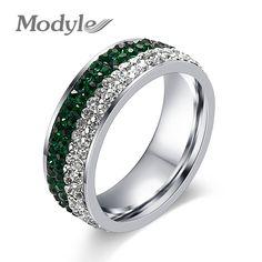 Modyle Wedding Ring White Gold Plated Cubic Zirconia Diamond Jewelry Valentine…