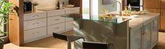 Glass base cabinets.  Avalon. Silverline.
