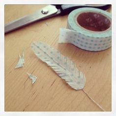 ★マスキングテープの羽根 切って羽を手作り