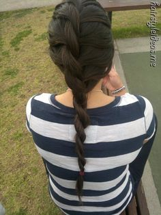 Twisty braid... I tried this but it doesn't stay put for long.