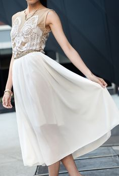 white & nude dress via the Sixth Tractate