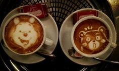 This Latte coffee art is created by the Japanese artist Kazuki Yamamoto. He has taken this coffee art a bit forward and created an impressive coffee art. Latte Art, Café Latte, I Love Coffee, Coffee Break, Coffee Cup Art, Coffee Coffee, Coffee Time, Tea Time, Mousse