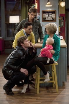 Baby Daddy - Danny is looking at Riley, while Tucker and Ben are looking at Emma. ❤