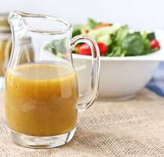 This Sweet and Tangy Honey Mustard Vinaigrette has become my go-to salad dressing. It comes together quickly with household staples and is a major crowd-pleaser! Salad Recipes Video, Salad Recipes For Dinner, Salad Dressing Recipes, Healthy Salad Recipes, Salad Dressings, Vegan Dressings, Healthy Food List, Healthy Snacks, Healthy Eating