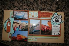 Disneyland's Cars Land Radiator Springs scrapbook layout