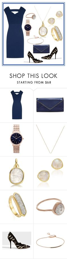 """Bold n Bright Look"" by paige-brrian ❤ liked on Polyvore featuring Roland Mouret, Rebecca Minkoff, DKNY, Monica Vinader and Paul Andrew"