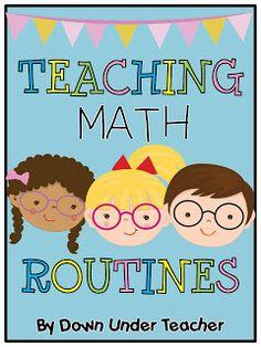 Down Under Teacher: Teaching Math Routines... so you can teach small groups