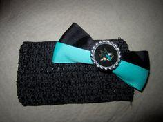 San Jose Sharks baby girl head hand.  http://www.etsy.com/listing/130936716/san-jose-sharks-baby-headband