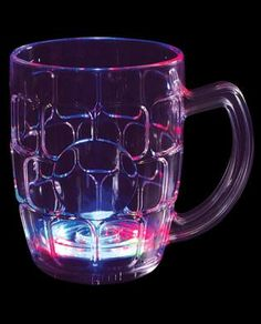 4.25in Multi Color Flashing Beer Mug - 16 oz