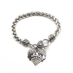 Inspired silver nana braclet | Carat Nana Heart Bracelet - a sterling silver bracelet
