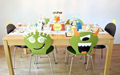 Monster-themed birthday party decor idea