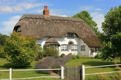 My Ultimate Dream: A thatched roof cottage in rural England. I just want to crawl into this picture and hug the shubbery! Cute Cottage, Old Cottage, Romantic Cottage, Cottage Homes, Thatched House, Thatched Roof, Scottish Country Cottages, English Cottages, Little Cottages